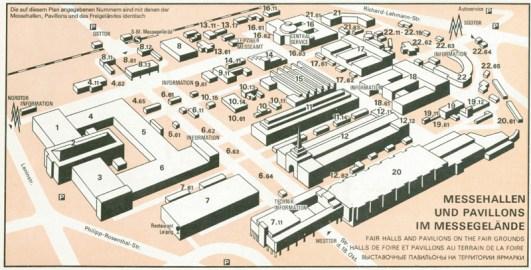 Plan des Messegeländes aus den 1980ern