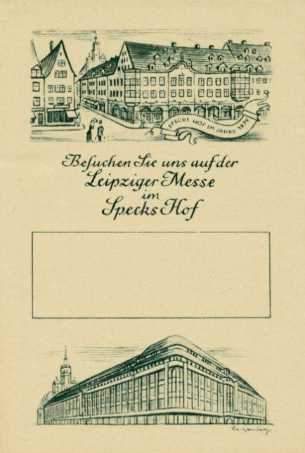 Werbekarte Specks Hof