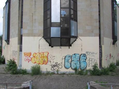 Zugemauerter Haupteingang