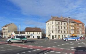 Kreuzung von Riesaer und Theodor-Heuss-Straße