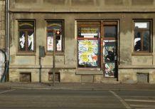 Ehemaliger Zeitungsladen am Straßenbahnhof Möckern