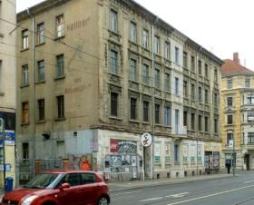 Alte Markranstädter-Werbung in der Hermann-Liebmann-Straße