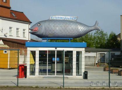 Riesenfisch in der Hupfeldstraße