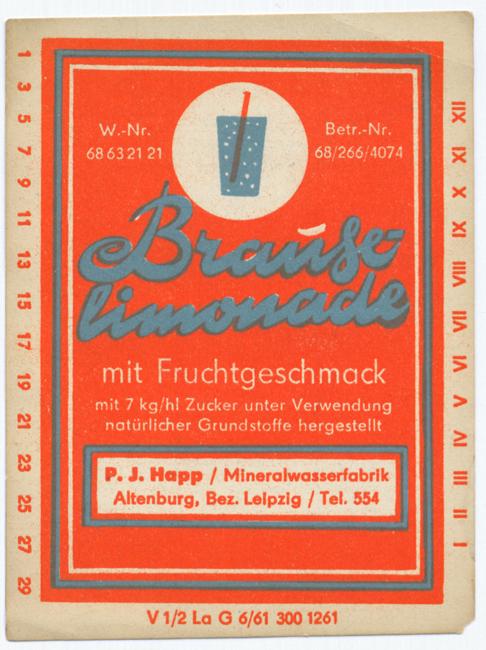 Brauselimonade aus Altenburg