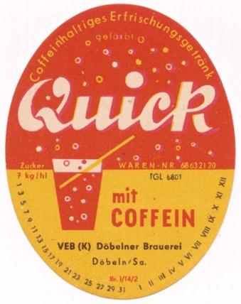 Quick-Cola aus Döbeln