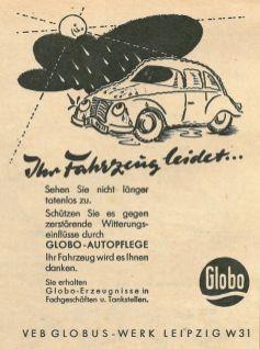 Globo-Anzeige von 1959