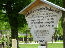 Schrebers, historisches Schild