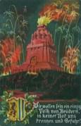 Historische Postkarte zur Leipziger Völkerschlacht