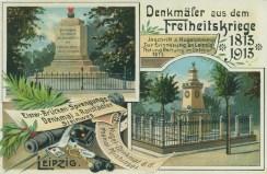 Denkmäler am Ranstädter Steinweg und der Milchinsel, historische Postkarte