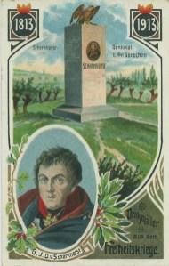 Scharnhorst-Denkmal bei Gr. Görschen, historische Postkarte