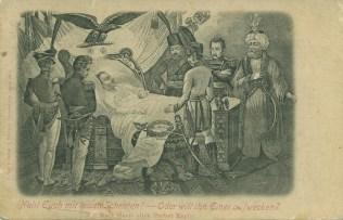 Napoleon auf St. Helena, historische Postkarte