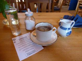 Kaffee im Canapee