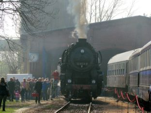 Im Eisenbahnmuseum Leipzig