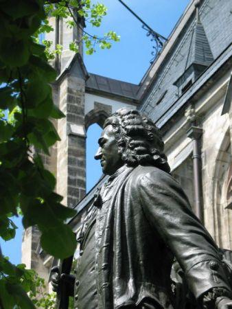 Bach-Denkmal an der Thomaskirche