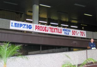 Leipzig-Reklame in Karlovy Vary