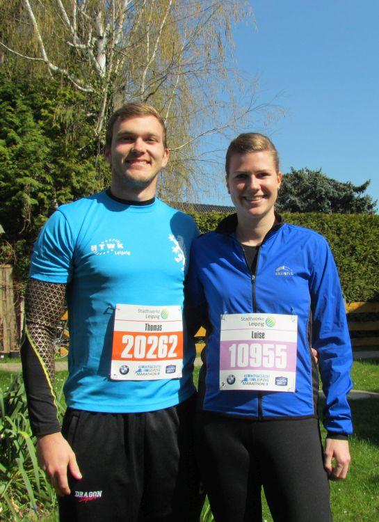 Thomas und Luise vor dem Rennen