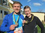Thomas und Luise nach dem Rennen