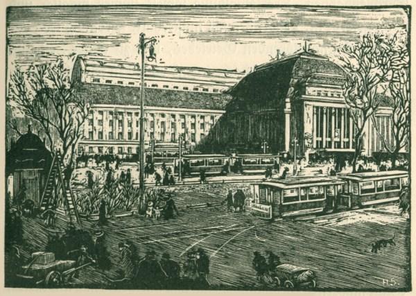 Der Hauptbahnhof in einem Buch von 1914