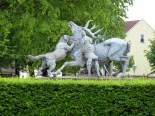 Hirschgruppe am Gasthof Zweinaundorf