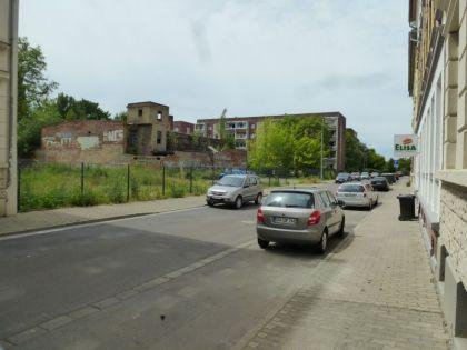 Zollikoferstraße: Links stand das Haus mit der Bäckerei