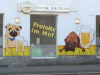 Freisitz-Hinweis in der Georg-Schumann-Straße