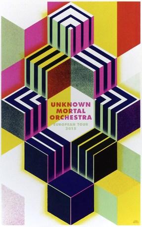 Rainbow-Poster für das Unknown Mortal Orchestra
