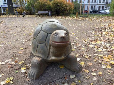 Schildkröte auf dem Körnerplatz