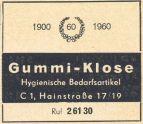 1963: Gummi-Klose im Branchenfernsprechbuch des Bezirks Leipzig