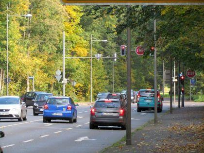 Kreuzung von Leutzscher Allee, Waldstraße und Zöllnerweg