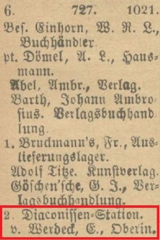 1897: Johannisgasse 6, Eintrag im Leipziger Adressbuch