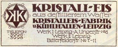 Kristalleisfabrik Anger-Crottendorf 1914