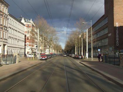 Karl-Heine-Straße, Blick Richtung Felsenkeller