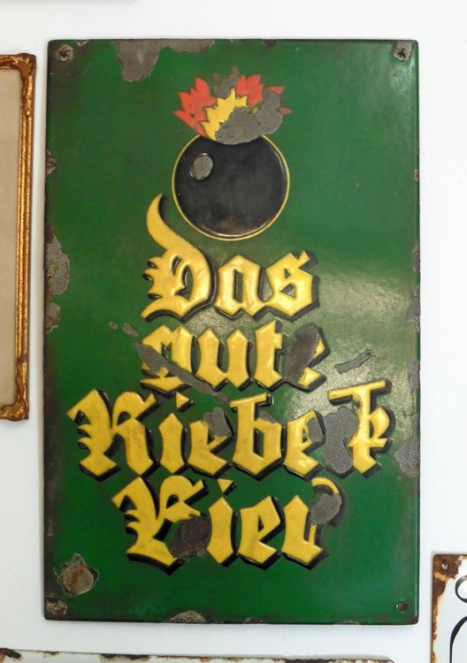 Altes Riebeck-Schild (Sammlung Reinhard A. Seydler)