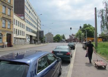 Situation im Mai 2016 (an der Laterne links geht's in die Weißenfelser)