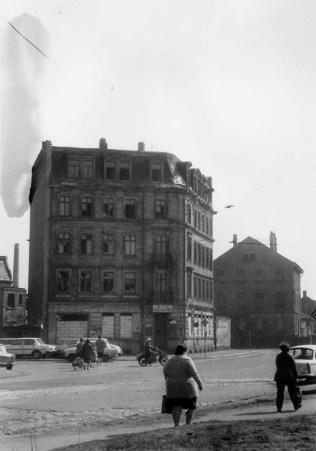Hotel Thüringer Hof (links: Weißenfelser Straße), 1986