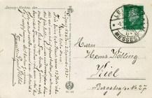 Die Karte erschien bei Paul F. Weber in Leipzig und ging nach Kiel