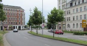 Blick aus der Ludwig-Erhard-Straße