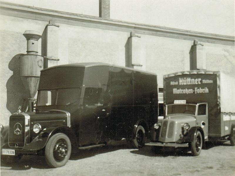 Fahrzeuge der Matratzenfabrik Hüttner um 1935