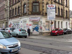 Zweieck in der Zweinaundorfer Straße