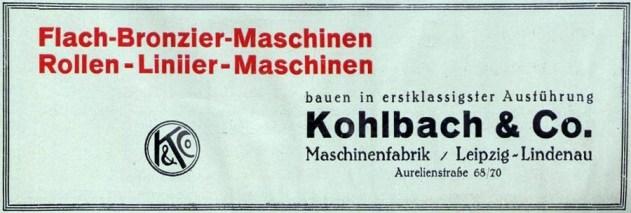 Kohlbach & Co., Anzeige von 1925