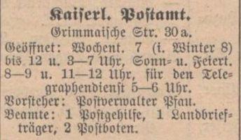 Adressbuch 1909