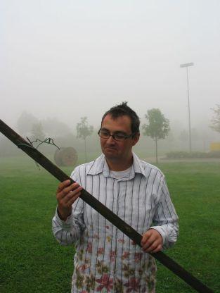 André Kudernatsch im Nebel
