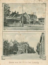 Bahnhof Miltitz (oben; Postkarte 1929 gelaufen)