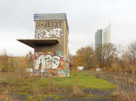 Lastenaufzug auf dem Leuschnerplatz, Nov. 2020