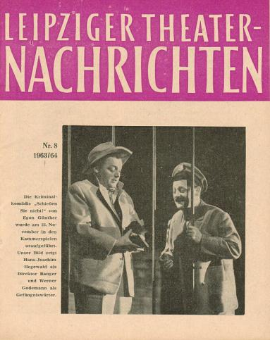 Leipziger Theaternachrichten Nr. 8 1963/64