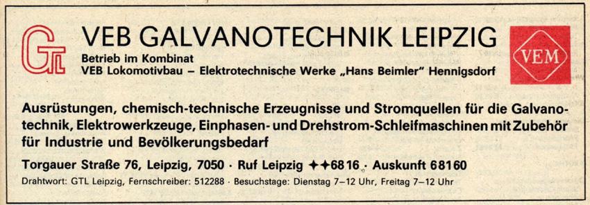 Aus dem Branchen-Fernsprechbuch 1988