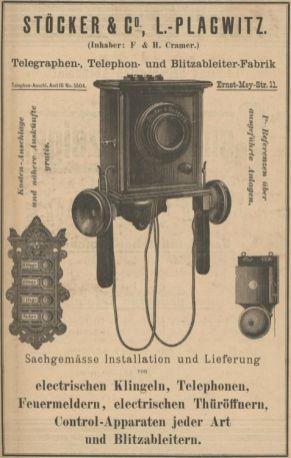 Stöcker & Co. im Adressbuch von 1896