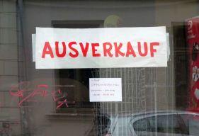 Ausverkauf in der Erich-Köhn-Straße