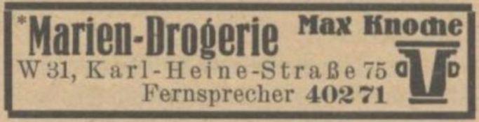 Marien-Drogerien im Adressbuch von 1942
