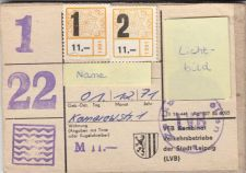 LVB-Monatskarte aus den 1980er Jahren